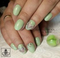 Гель краска Enamel GE-07 Pastel Green_1
